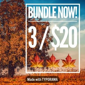 Bundle 🍁 Items for 3/$20